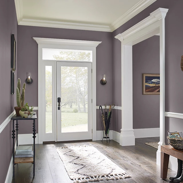 Foyer painted in ROASTED BEET