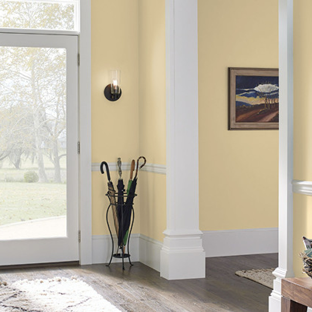 Foyer painted in GOLDEN FEATHER