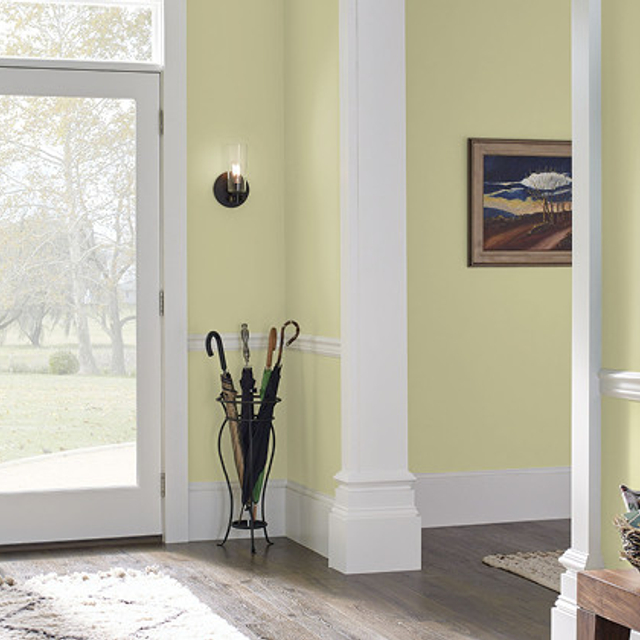 Foyer painted in TENDER SHOOTS