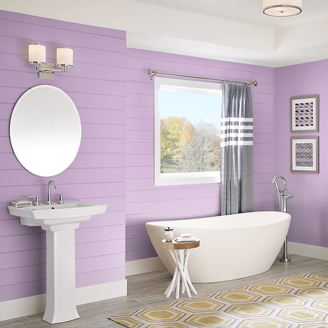 Bathroom painted in CRUSH
