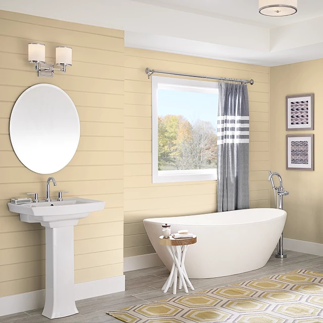 Bathroom painted in GOLDILOCKS