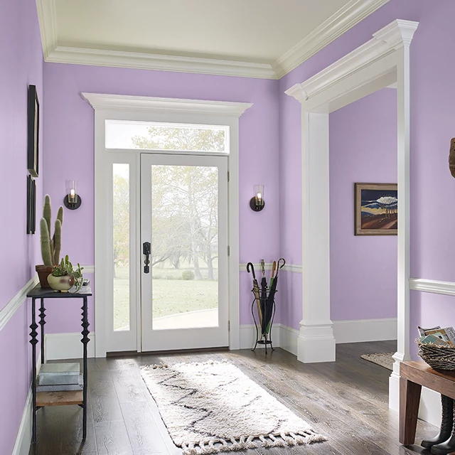 Foyer painted in CANDIED HEARTS