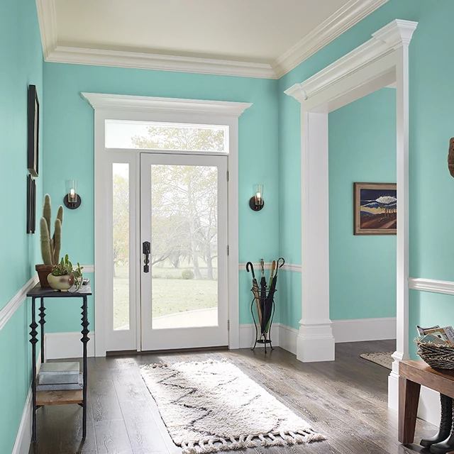 Foyer painted in CELADON PLATE