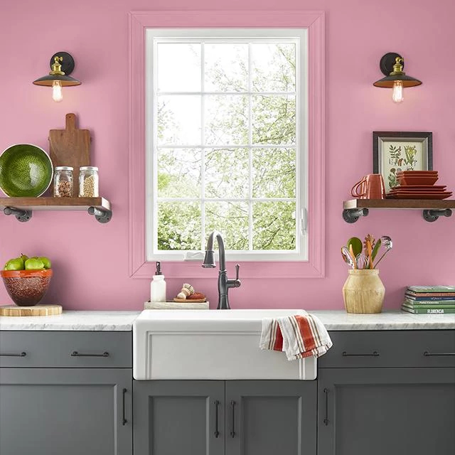 Kitchen painted in SINCERITY