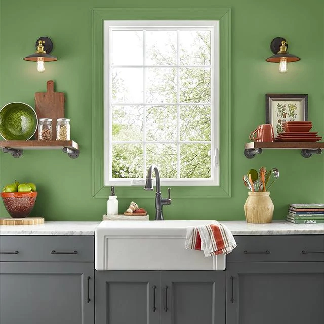 Kitchen painted in HOMEGROWN HERBS