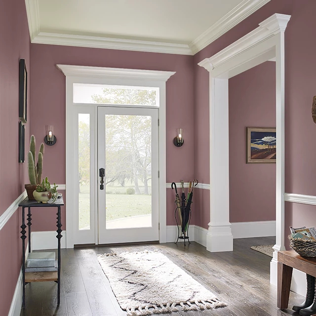 Foyer painted in AUSTRALIAN SHIRAZ