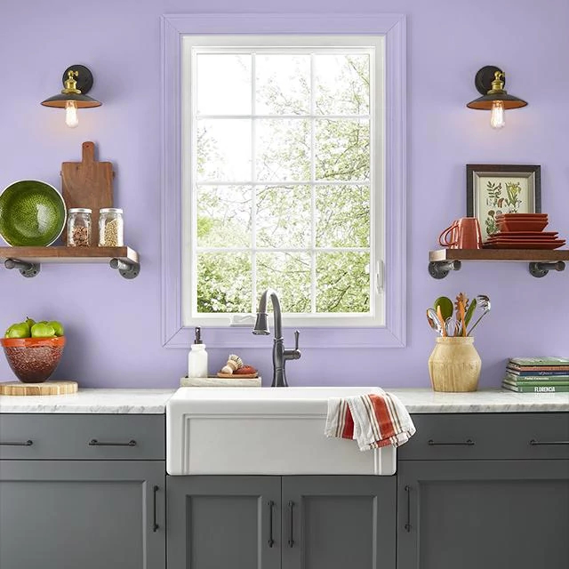 Kitchen painted in GINGER LILY