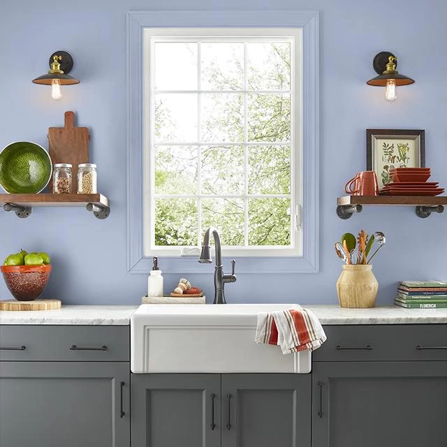 Kitchen painted in MUSICAL PLAY