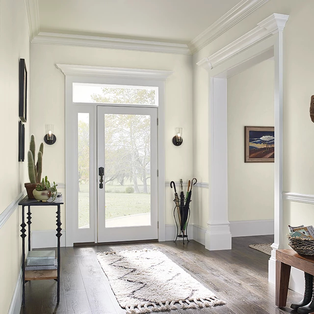 Foyer painted in SHEA BUTTER