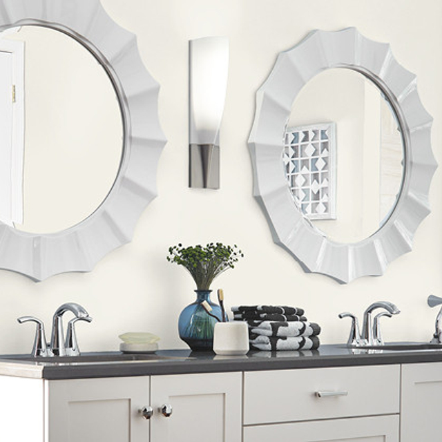 Bathroom painted in ARCHITECTURAL WHITE