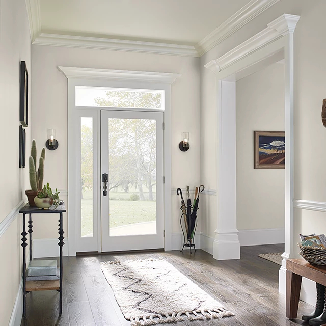 Foyer painted in STARCHED LINEN