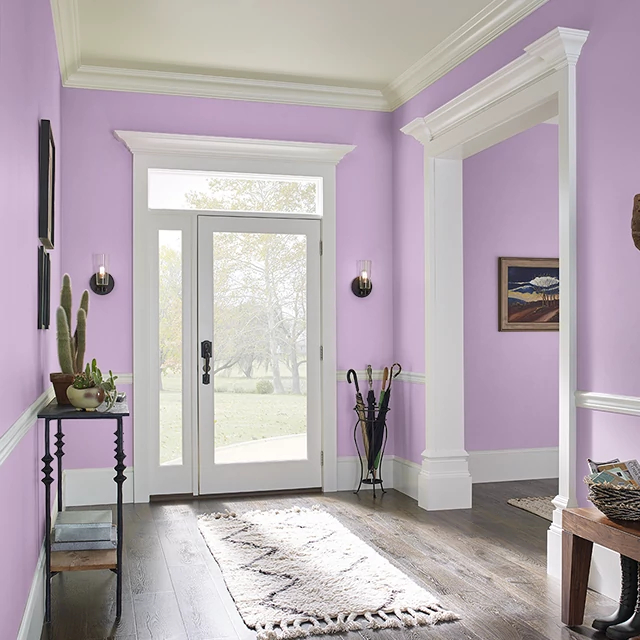 Foyer painted in CRUSH