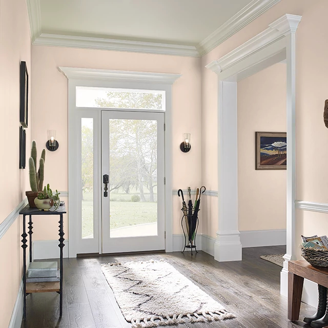Foyer painted in SWEET SERENITY
