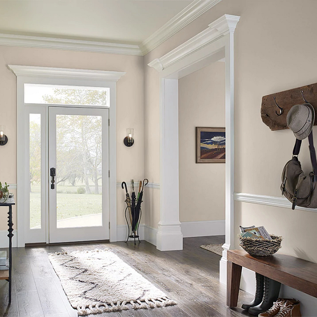 Foyer painted in PAPYRUS