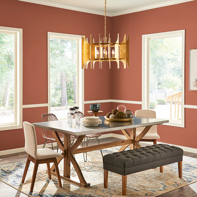 Dining Room painted in SPICY TWIST