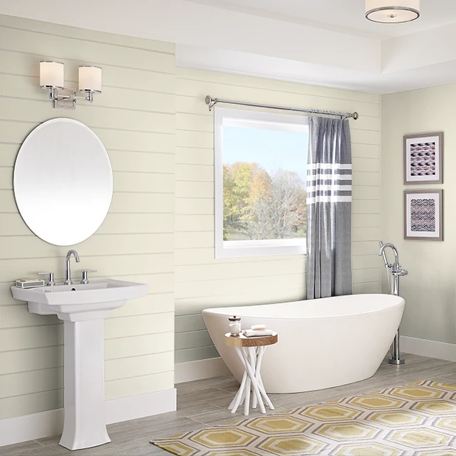 Bathroom painted in SHEA BUTTER