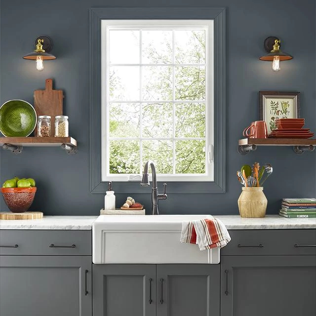 Kitchen painted in NIGHT MAGIC