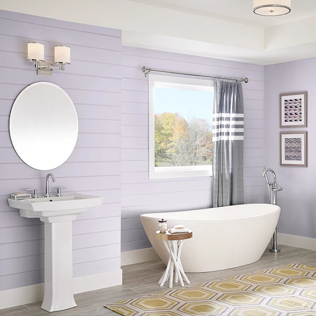 Bathroom painted in BUTTERFLY KISS