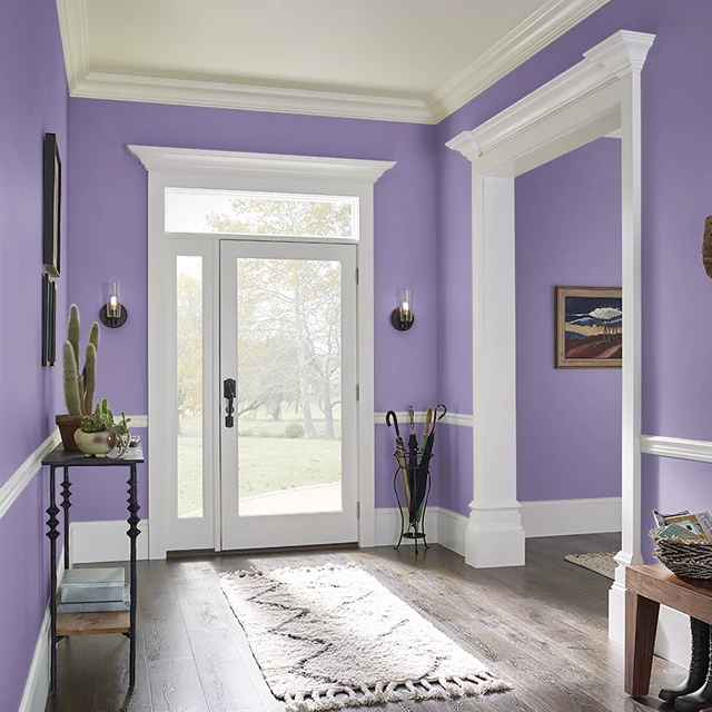 Foyer painted in BELLADONA
