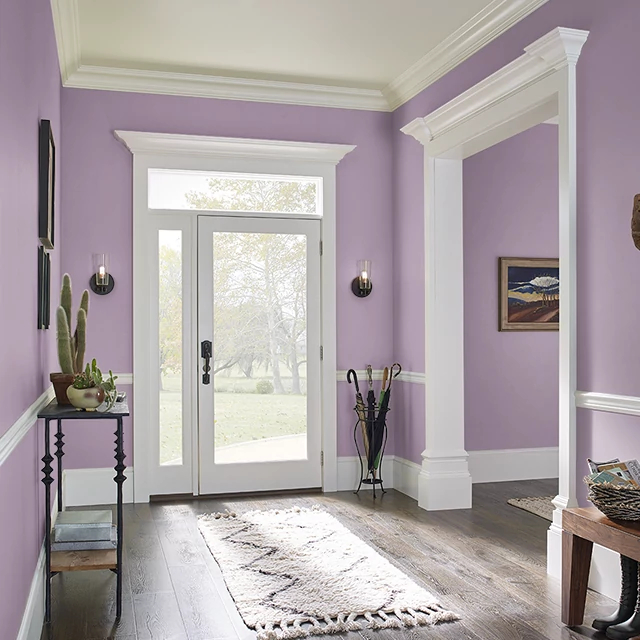 Foyer painted in BERRY BLOOM