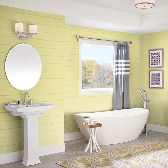 Bathroom painted in ARTICHOKE HEART