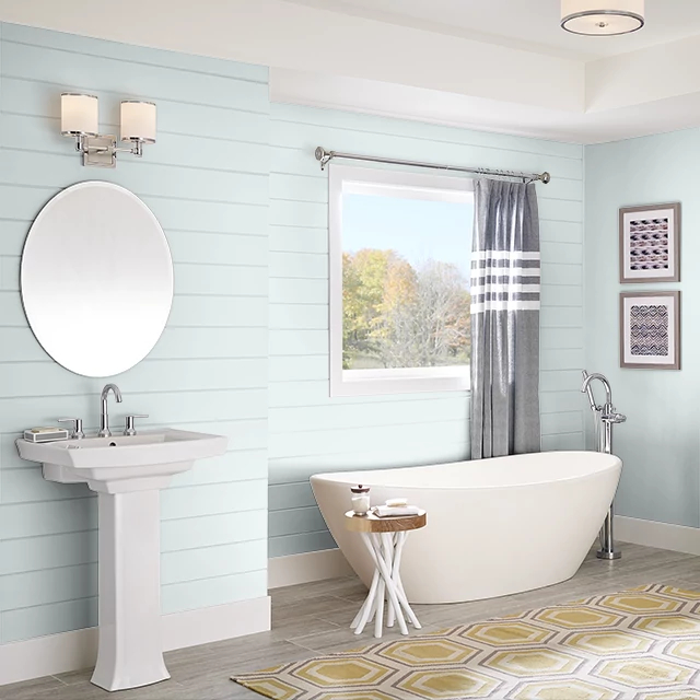 Bathroom painted in MORNING HUSH