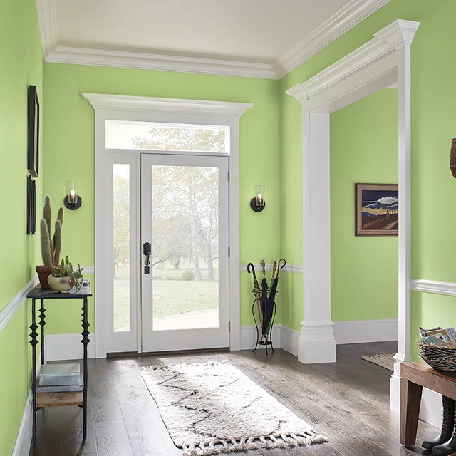 Foyer painted in GREEN FLASH