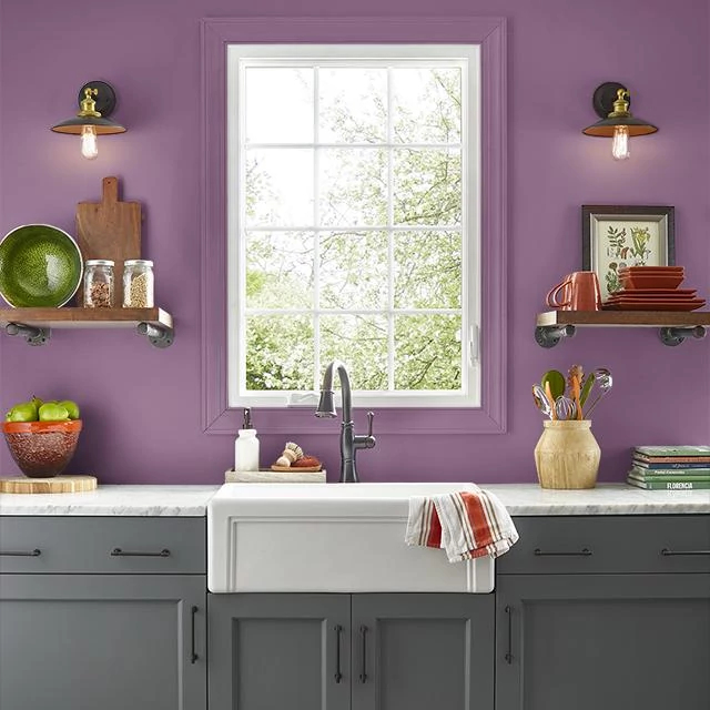 Kitchen painted in CUPID