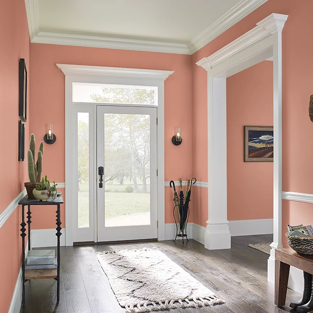 Foyer painted in TIMELESS TERRA COTTA