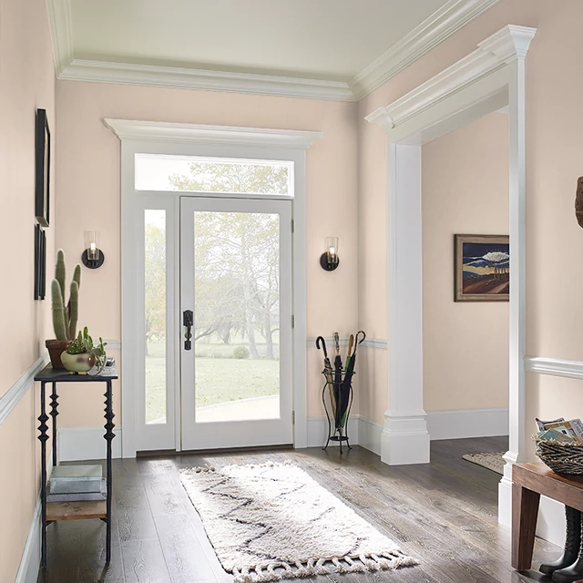 Foyer painted in POSH PEACH