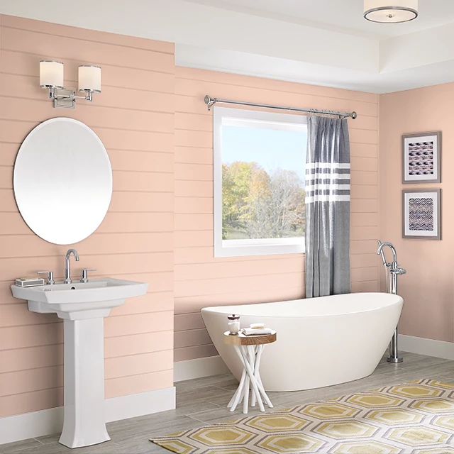 Bathroom painted in GENTLE EMBRACE