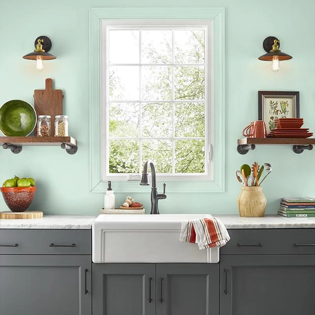 Kitchen painted in JULEP