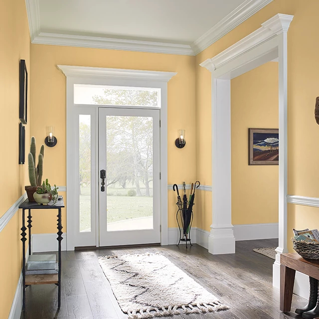 Foyer painted in GOLDEN CORN