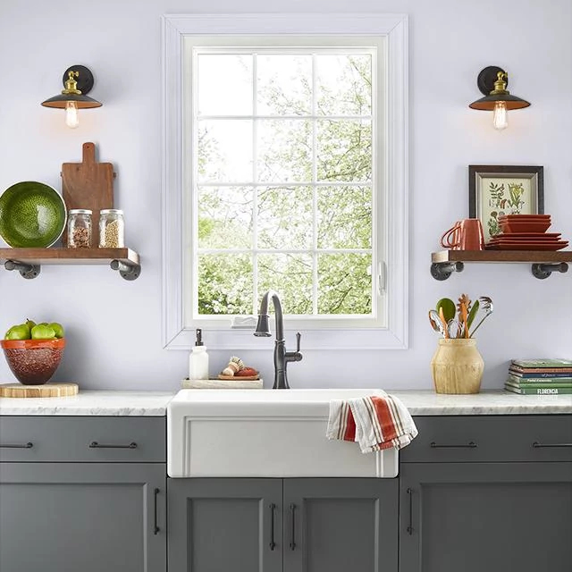 Kitchen painted in COLORADO DAWN