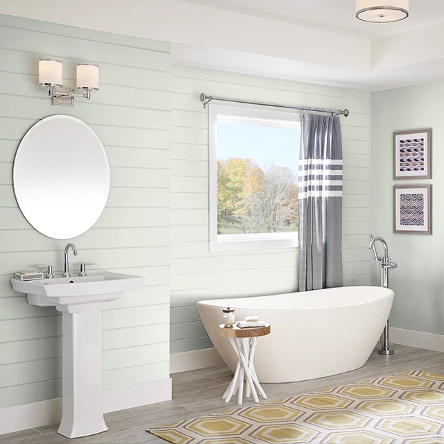 Bathroom painted in TOUCH OF LIME