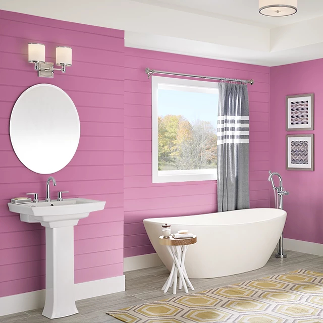 Bathroom painted in PLUMERIA LEI