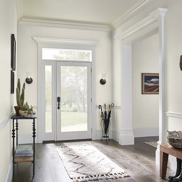Foyer painted in FRENCH CANVAS