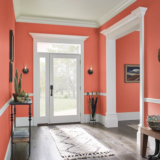 Foyer painted in DYNAMITE