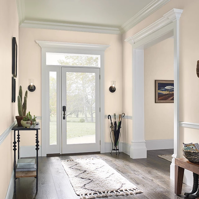 Foyer painted in OPALINE