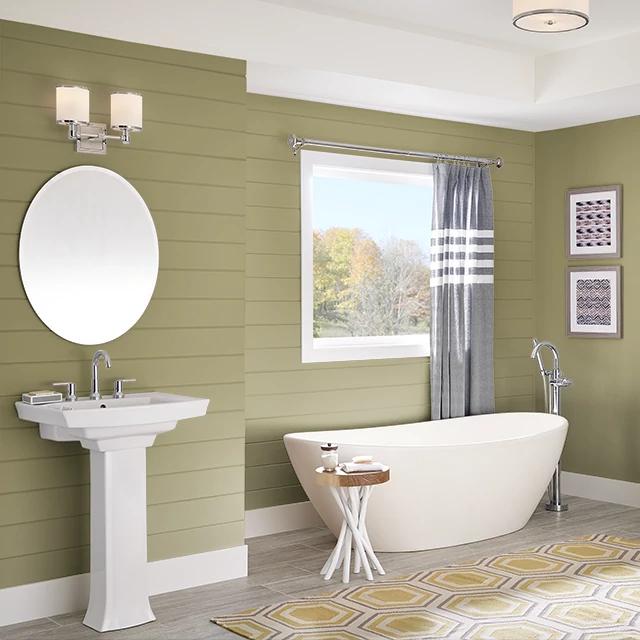 Bathroom painted in CUCUMBER SALAD