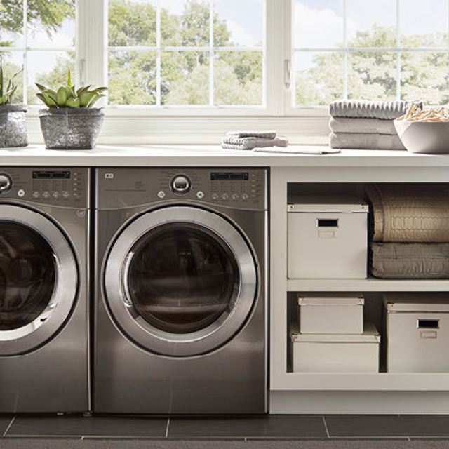 Laundry painted in ARCHITECTURAL WHITE