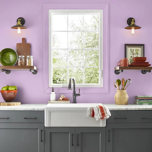 Kitchen painted in CRUSH