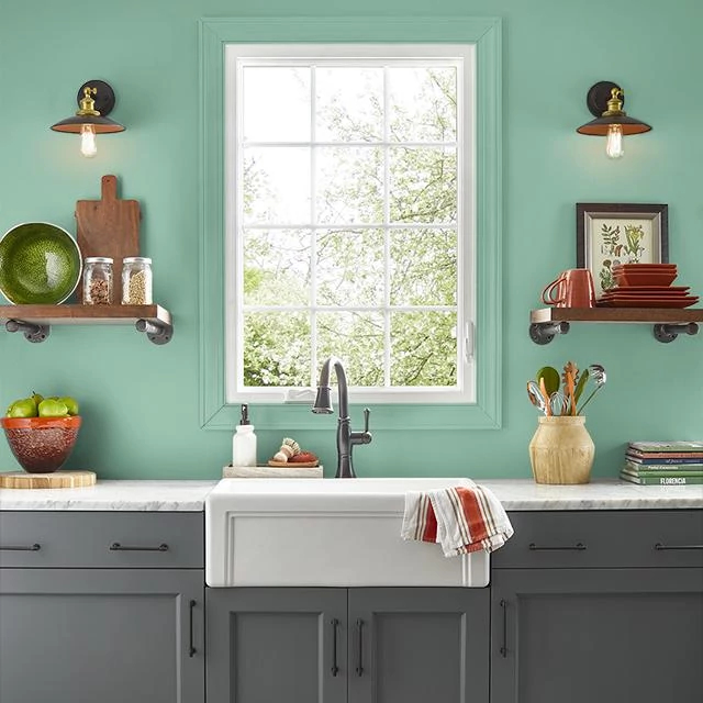 Kitchen painted in FRAGRANT HERBS