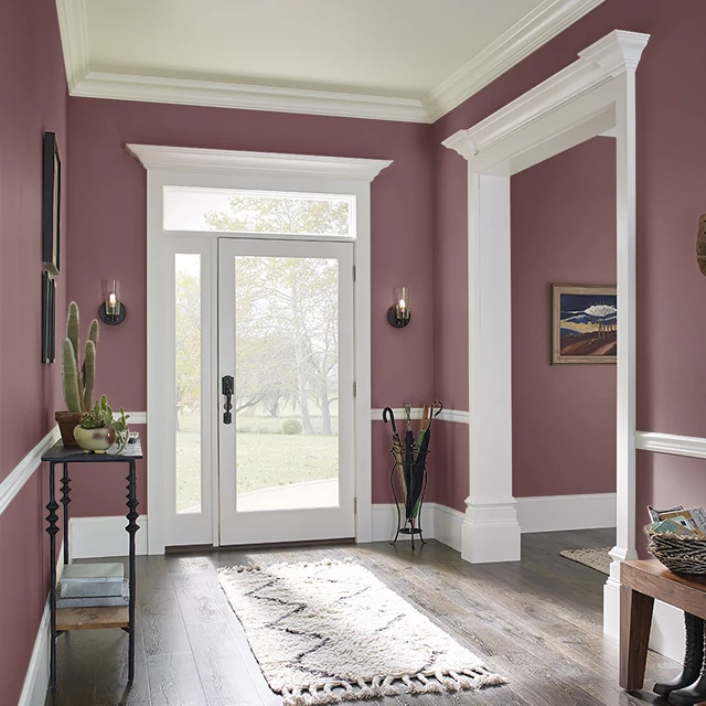 Foyer painted in RED TEA