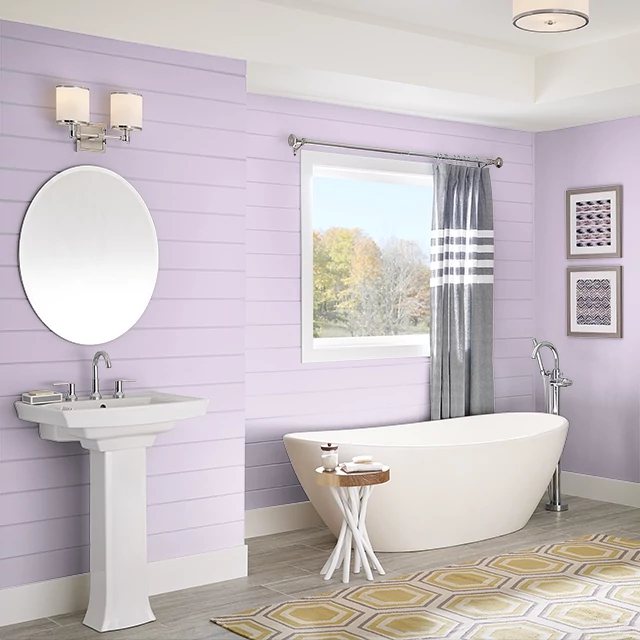 Bathroom painted in CLASSIC ROSE