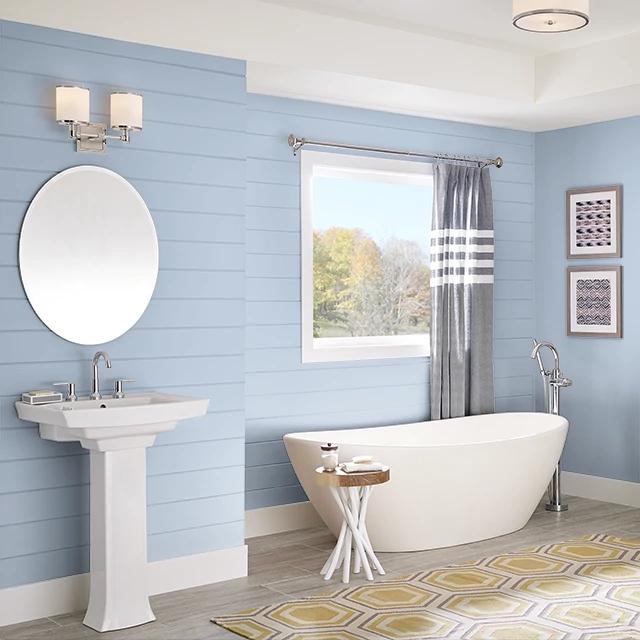Bathroom painted in RAIN REFLECTION