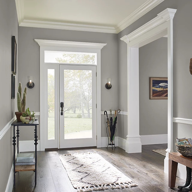 Foyer painted in URBAN CHATEAU
