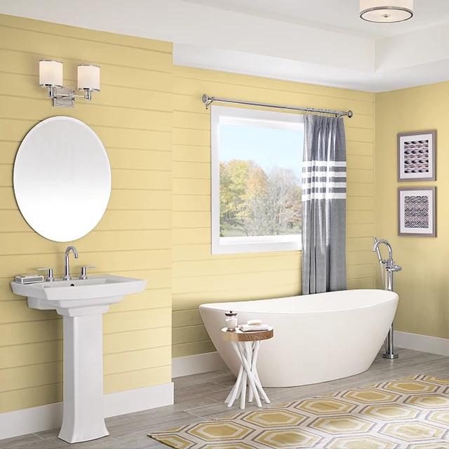 Bathroom painted in AFTERNOON TEA