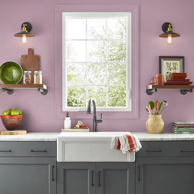 Kitchen painted in HISTORIC ROSE