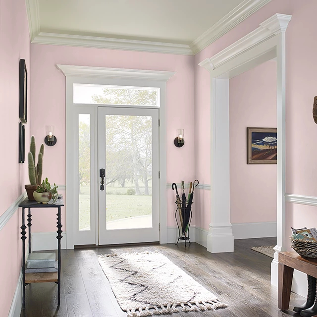 Foyer painted in SWEET BLUSH